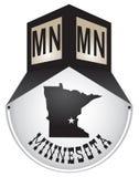 Uitstekend straatteken voor Minnesota Royalty-vrije Stock Afbeeldingen
