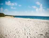 Uitstekend strand in Sardinige Stock Foto