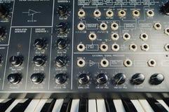 Uitstekend synthesizer en flardpaneel Royalty-vrije Stock Afbeeldingen