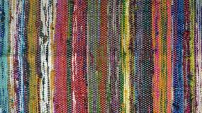 Uitstekend tapijt Kleurrijk, oud tapijt Huis! Stock Afbeelding