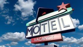 Uitstekend teken van een motel Royalty-vrije Stock Afbeeldingen