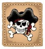 Uitstekend thema 2 van de piraatschedel Stock Fotografie