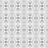 Uitstekend tracery vector naadloos patroon van de lijnkunst Sierabs stock illustratie