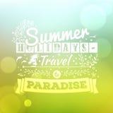 Uitstekend typografie het van letters voorzien de zomerontwerp en vage achtergrond Royalty-vrije Stock Fotografie