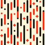 Uitstekend vakantiepatroon Het vector naadloze feestelijke patroon met lijnen, sterren, flitsen, maakte hoeken rond Stock Fotografie