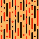 Uitstekend vakantiepatroon Het vector naadloze feestelijke patroon met lijnen, sterren, flitsen, maakte hoeken rond Stock Afbeeldingen