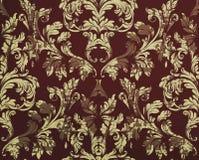 Uitstekend Vector het ornamentdecor van het Damastpatroon Barokke grungetexturen als achtergrond Koninklijke victorian in ontwerp Stock Fotografie