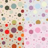 Uitstekend vector naadloos patroon van cirkels Royalty-vrije Stock Afbeeldingen