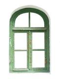 Uitstekend venster, kleurenbeeld. Stock Foto