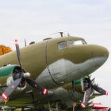Uitstekend vervoervliegtuig Stock Afbeelding