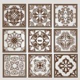 Uitstekend vierkant patroon Royalty-vrije Stock Afbeelding