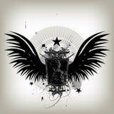 Uitstekend vleugelsschild stock illustratie