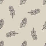Uitstekend vliegend veer naadloos patroon Stock Foto's