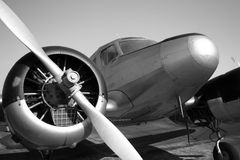 Uitstekend Vliegtuig royalty-vrije stock afbeelding