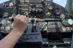 Uitstekend vliegtuigdashboard Royalty-vrije Stock Afbeeldingen