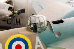 Uitstekend Vliegtuigmachinegeweer Stock Afbeelding