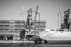 Uitstekend vrachtschip Stock Foto's