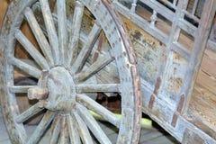 Uitstekend wagenwiel Royalty-vrije Stock Afbeelding