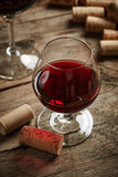 Uitstekend wijnstilleven Stock Foto's
