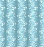 Uitstekend wit en blauw patroon Stock Foto