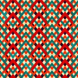 Uitstekend zigzag naadloos patroon met grungeeffect royalty-vrije illustratie