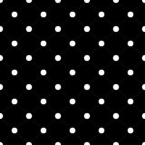 Uitstekend Zwart Naadloos Patroon met Witte Stippen Stock Afbeelding