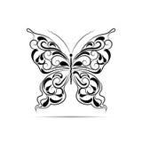 Uitstekend zwart patroon in een vorm van een vlinder royalty-vrije illustratie