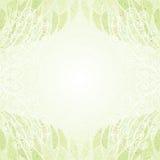 Uitstekende abstracte groene bloemen horizontale kaart Stock Afbeelding