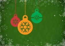 Uitstekende abstracte Kerstmisachtergrond stock illustratie