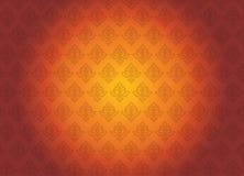 Uitstekende abstracte vectorillustratie als achtergrond oranje en rood t Stock Afbeeldingen