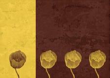Uitstekende achtergrond - de abstractie van de Bloem Royalty-vrije Stock Afbeeldingen