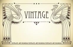 Uitstekende achtergrond in Jugendstil Royalty-vrije Stock Foto
