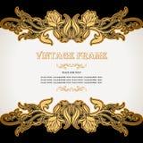 Uitstekende achtergrond, luxe, antiek, victorian, bloemenornament, Royalty-vrije Stock Foto