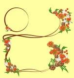 Uitstekende achtergrond met bloemen stock illustratie