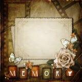 Uitstekende achtergrond met bloemen Stock Foto's