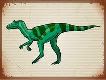Uitstekende achtergrond met dinosaurus Royalty-vrije Stock Afbeeldingen