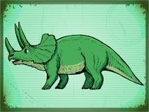Uitstekende achtergrond met dinosaurus Royalty-vrije Stock Afbeelding
