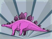 Uitstekende achtergrond met dinosaurus Royalty-vrije Stock Fotografie