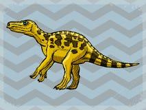 Uitstekende achtergrond met dinosaurus Royalty-vrije Stock Foto