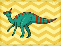 Uitstekende achtergrond met dinosaurus Royalty-vrije Stock Foto's