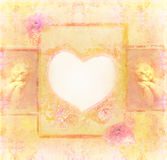 Uitstekende achtergrond met engelen vector illustratie