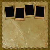 Uitstekende achtergrond met frames Royalty-vrije Stock Afbeeldingen