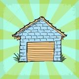 Uitstekende achtergrond met garage vector illustratie