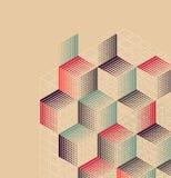 Uitstekende achtergrond met geometrische vormen vector illustratie