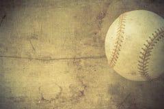 Uitstekende achtergrond met Honkbal Stock Afbeeldingen