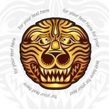 Uitstekende achtergrond met leeuwenhoofd Royalty-vrije Stock Afbeeldingen