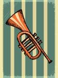 Uitstekende achtergrond met muziekinstrument vector illustratie