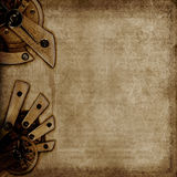 Uitstekende achtergrond met oude mechanismen Stock Fotografie