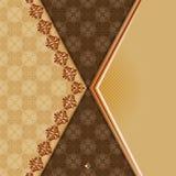 Uitstekende achtergrond met verdeler en mooie arabesque stock illustratie