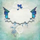 Uitstekende achtergrond met vlinders Royalty-vrije Stock Afbeelding
